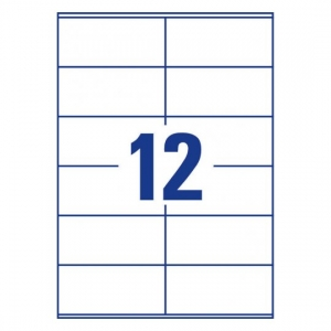 Белые самоклеющиеся универсальные этикетки, 105 x 48мм, 3424 - 200