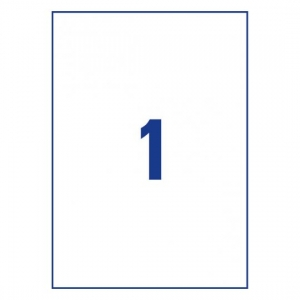 Белые самоклеющиеся универсальные этикетки, 210 x 297мм, 3478 - 200