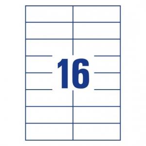 Белые самоклеющиеся универсальные этикетки, 105 x 37мм, 3484 - 200
