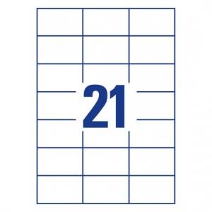 Белые самоклеющиеся универсальные этикетки, 70 x 42,3мм, 3652 - 200