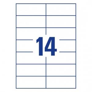 Белые самоклеющиеся универсальные этикетки, 105 x 42,3мм, 3653 - 200