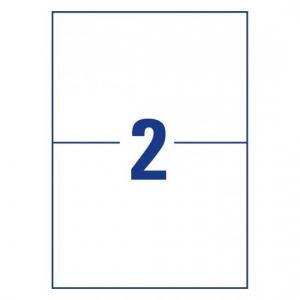 Белые самоклеющиеся универсальные этикетки, 210 x 148мм, 3655 - 200