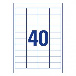 Белые самоклеющиеся универсальные этикетки, 48,5 x 25,4мм, 3657- 200
