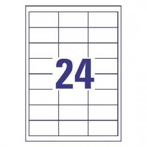 Белые самоклеющиеся универсальные этикетки, 64,6 x 33,8мм, 3658 - 200