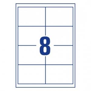 Белые самоклеющиеся универсальные этикетки, 97 x 67,7мм, 3660 - 200