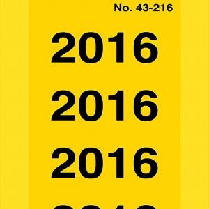 Этикетки для папок на 2016 год из бумаги, 60 x 26, 43-216