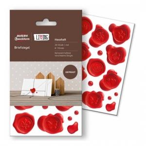 Этикетки-печати living для конвертов, d=19мм, 62016