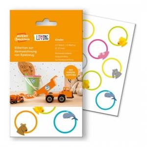 Этикетки living для игрушек d=37мм, 62034