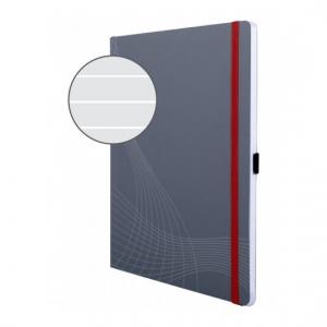 Блокнот Notizio для записей, в линейку, А4, серый, 80 л.