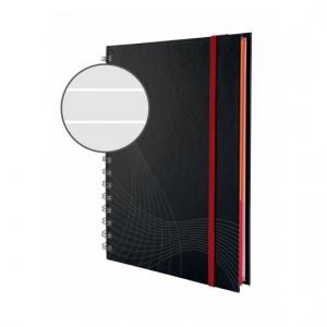 Блокнот Notizio для записей, в линейку, А5, серый, 90 л.