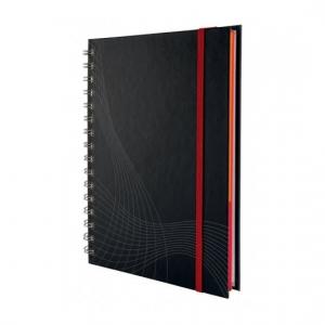 Блокнот Notizio для записей, в клетку, А4, серый, 90 л.