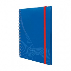 Блокнот Notizio для записей, в клетку, А5, синий, 90 л.