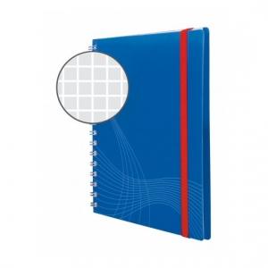 Блокнот Notizio для записей, в клетку, А6, синий, 80 л.