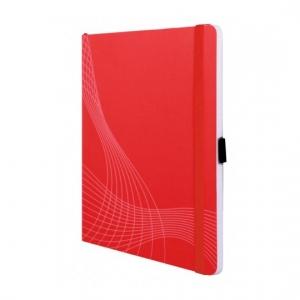 Блокнот Notizio для записей, в клетку, А4, красный, 80 л.