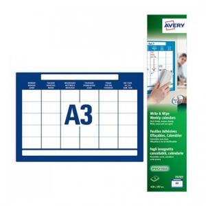 Этикетки-доски A3, Календарь недельный, 70707