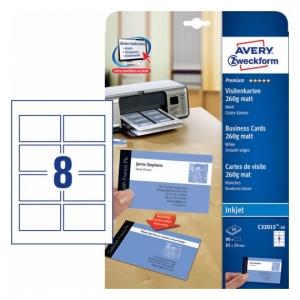 Заготовки для визитных карточек, двусторонние, 85 х 54мм, C32015-10