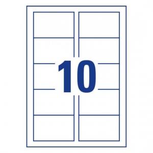 Заготовки для визитных карточек, двусторонние, 85 х 54мм, C32026-10