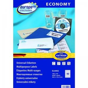 Самоклеющиеся универсальные матовые этикетки Европа-100, 48,5 x 25,4мм, ELA002