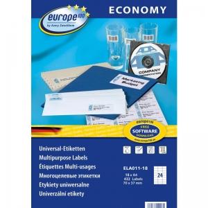 Самоклеющиеся универсальные матовые этикетки Европа-100, 70 x 37,1мм, ELA011-18
