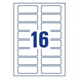 Самоклеющиеся беджи для струйных принтеров, 80 x 30мм, J4798-20