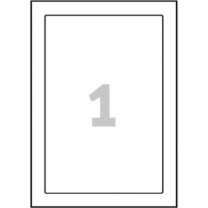 Белые самоламинирующиеся таблички, 170 x 257мм, L7087-10