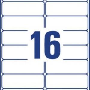 Прозрачные адресные этикетки из полиэстера, 99,1 x 33,9, L7562-25