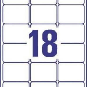 Белые адресные этикетки QuickPEEL из бумаги, 63.5 x 46.6, L7161-100