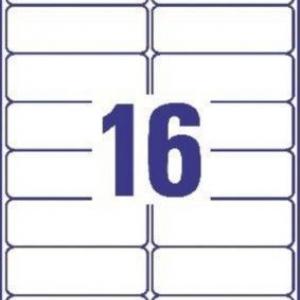 Белые адресные этикетки из бумаги, 99.1 x 33.9, J8162-25