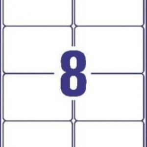 Белые адресные этикетки из бумаги, 99.1 x 67.7, J8165-25
