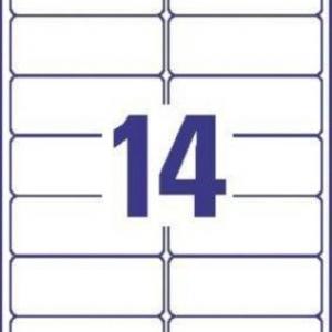 Прозрачные этикетки из полиэстера, 99.1 x 38.1, J8563-25