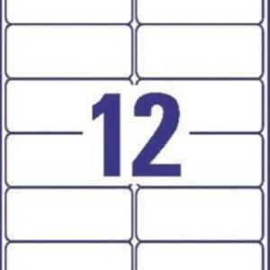 Прозрачные этикетки из полиэстера, 99.1 x 42.3, L4772-25