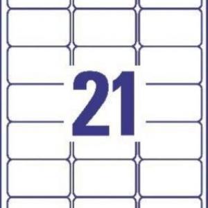 Прозрачные этикетки из полиэстера, 63.5 x 38.1, L7560-25