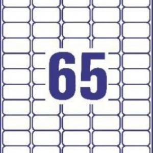 Белые адресные мини-этикетки из бумаги, 38.1 x 21.2, L7651-100