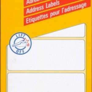 Белые адресные этикетки Zig-Zag из бумаги, 89 x 36, 3344