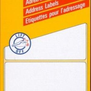 Белые адресные этикетки Zig-Zag из бумаги, 95 x 48, 3345
