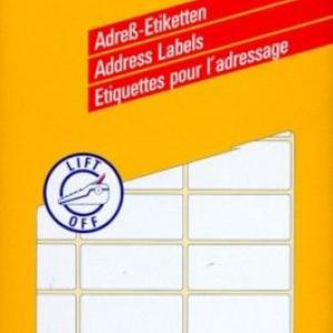 Белые адресные этикетки на листах А4 из бумаги, 67 x 30, 3347