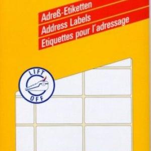 Белые адресные этикетки на листах А4 из бумаги, 67 x 38, 3348