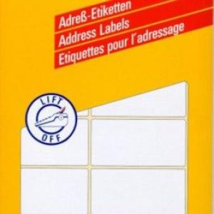 Белые адресные этикетки на листах А4 из бумаги, 95 x 47, 3350