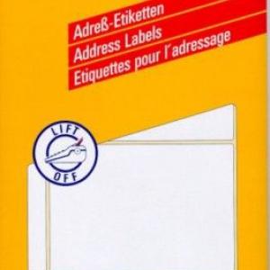 Белые адресные этикетки на листах А4 из бумаги, 148 x 103, 3351