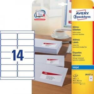 Белые адресные этикетки из бумаги, 99.1 x 38.1, J8163-25