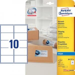 Белые адресные этикетки из бумаги, 99.1 x 57, J8173-25