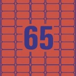 Красные бумажные мини- этикетки, 38.1 x 21.2, L4790-20