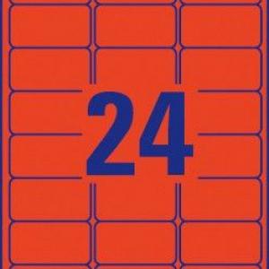 Красные бумажные этикетки, 63.5 x 33.9, L6034-20