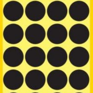 Черные этикетки-точки из бумаги, ? 18, 3003