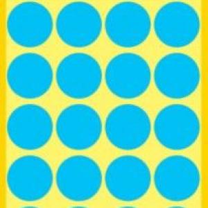 Синие этикетки-точки из бумаги, ? 18, 3005