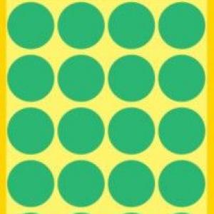 Зеленые этикетки-точки из бумаги, ? 18, 3006