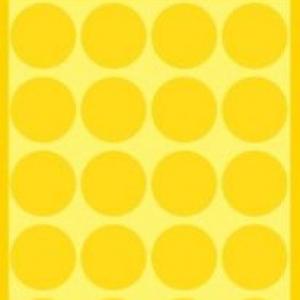 Желтые этикетки-точки из бумаги, ? 18, 3007