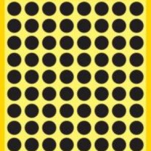 Черные этикетки-точки из бумаги, ? 8, 3009