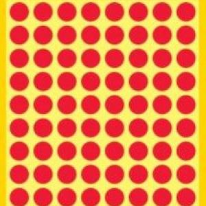 Красные этикетки-точки из бумаги, ? 8, 3010