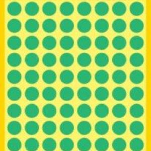 Зеленые этикетки-точки из бумаги, ? 8, 3012